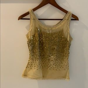 Dolce&Gabbana Tulle and Sequin Top